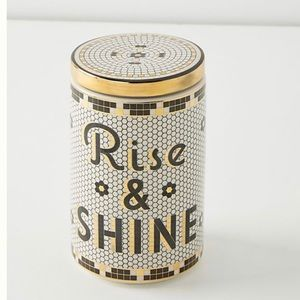 Anthro NWT Rise and Shine Bistro Tile Canister